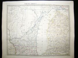 SDUK 1830's Antique Map. North America. Wisconsin & Michigan, USA